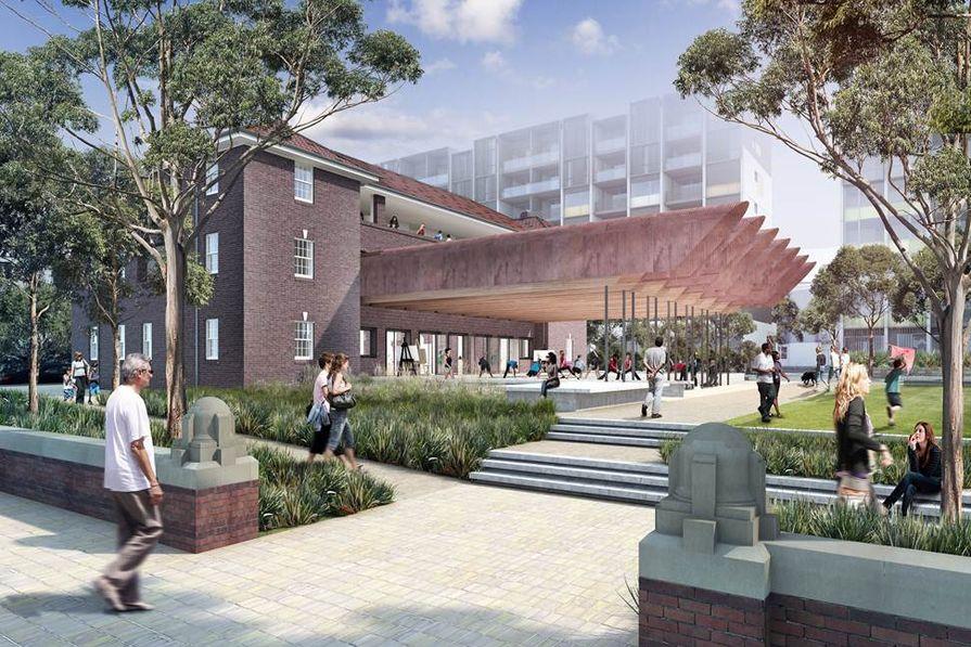 A render of the Joynton Avenue Creative Centre by Peter Stutchbury Architecture.