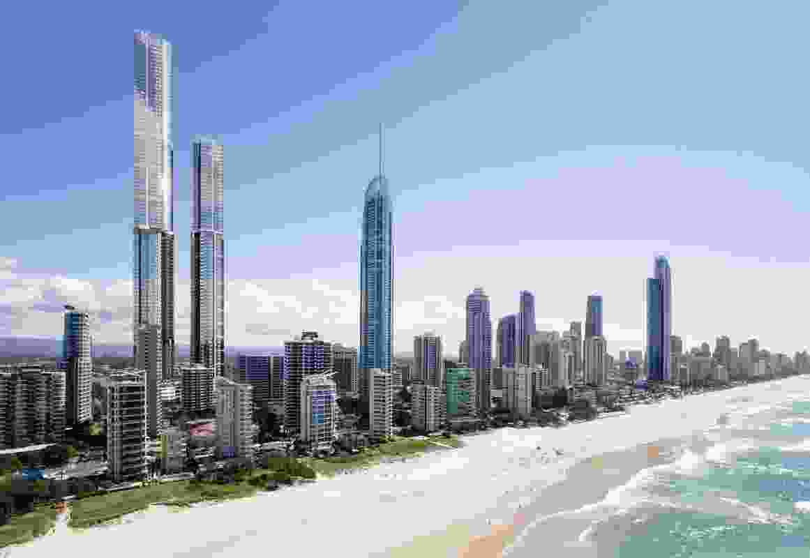 The proposed Orion towers by Woods Bagot.