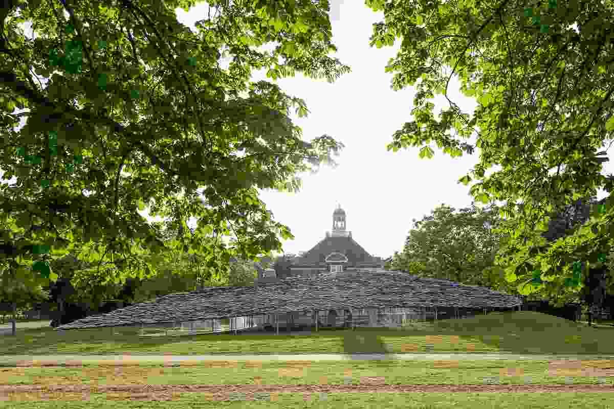 Serpentine Pavilion 2019 designed by Junya Ishigami, Serpentine Gallery, London.