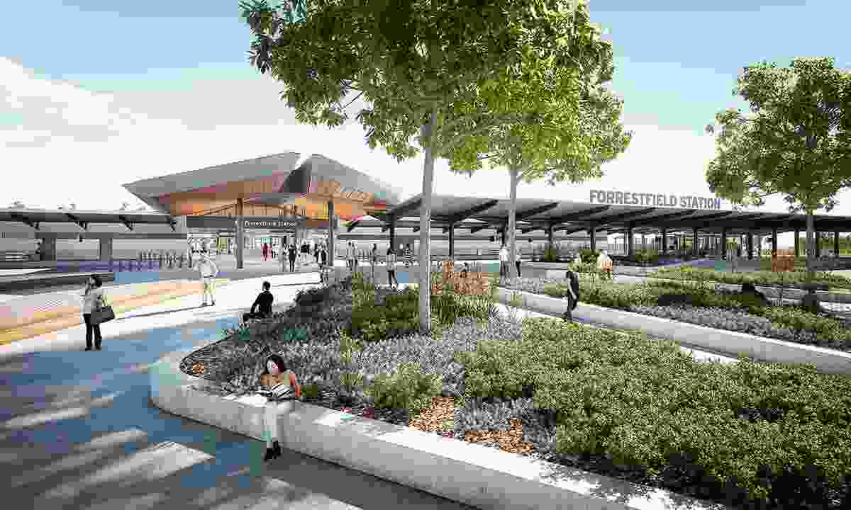 Forrestfield Station by Weston Williamson and Partners in collaboration with GHD Woodhead.