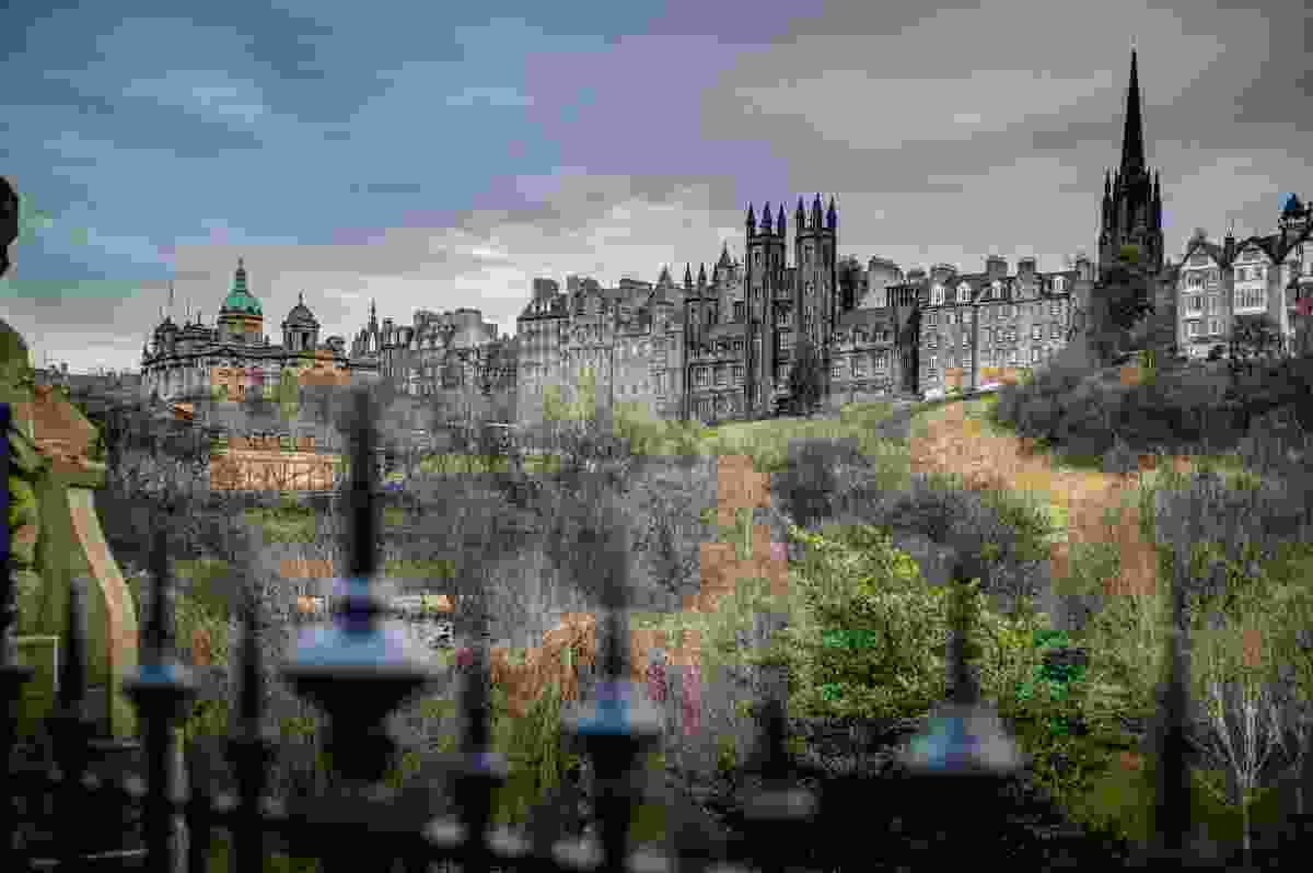 The Royal Mile as seen from West Princes Street Gardens.