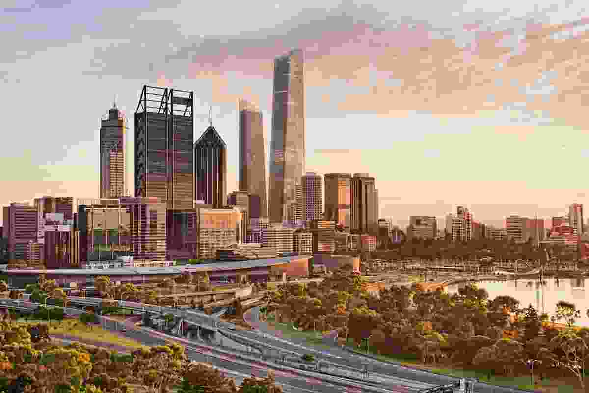 Proposed view of World Trade Centre Perth by Woods Bagot from Kings Park.