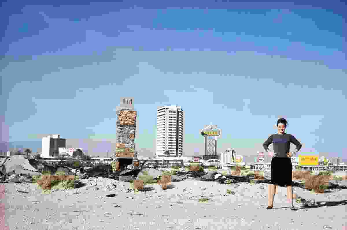 The Strip seen from the desert with Denise Scott Brown, 1966.