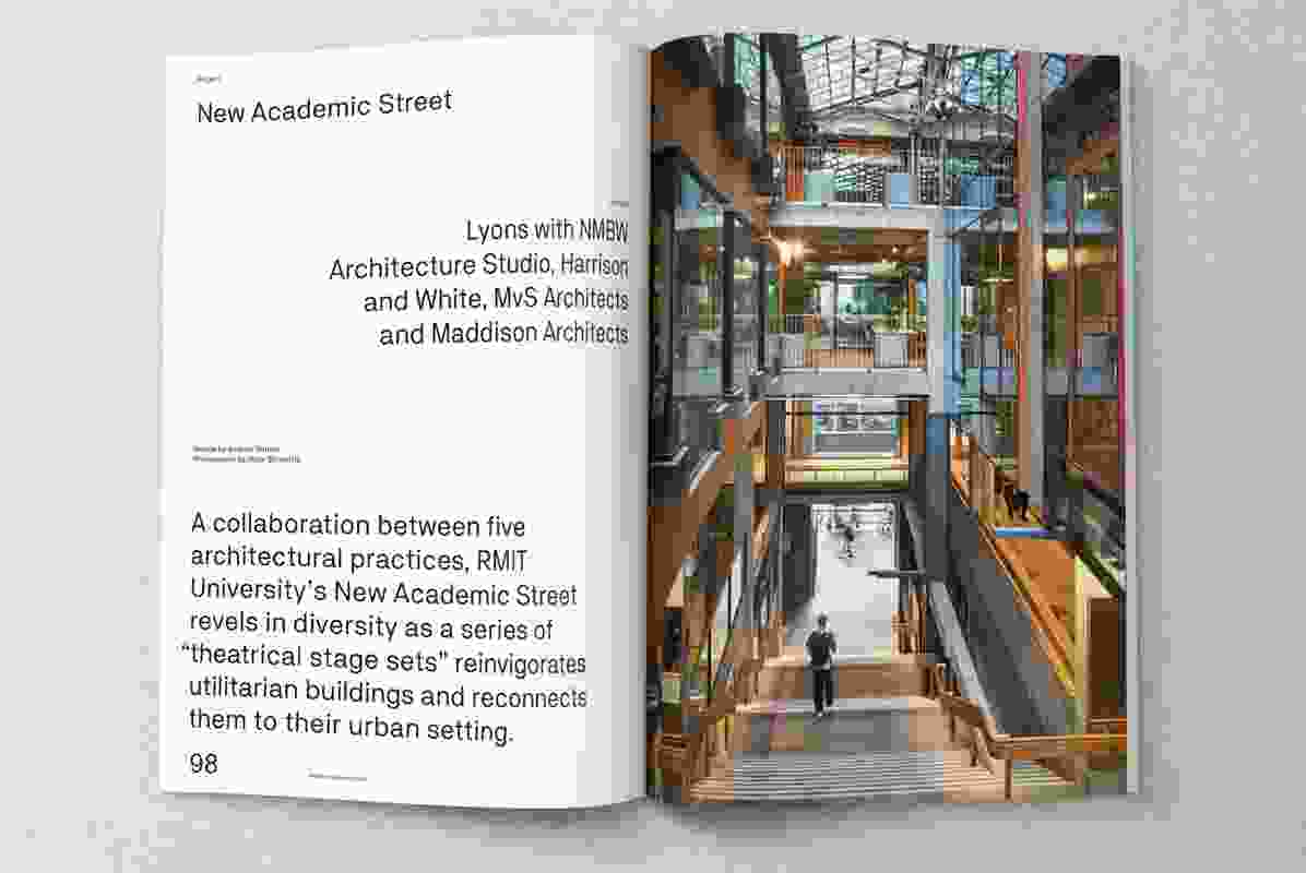 New Academic Street designed by Lyons with NMBW Architecture Studio, Harrison and White, MvS Architects and Maddison Architects.