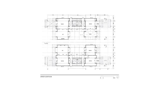 Lower floor plan of Moreton Bay Houses.