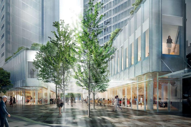 The ground floor of the One Sydney Harbour towers by Renzo Piano Building Workshop will be small areas of retail.