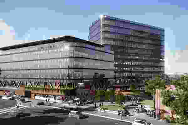 The proposed Geelong Civic Precinct by Cox Architecture.