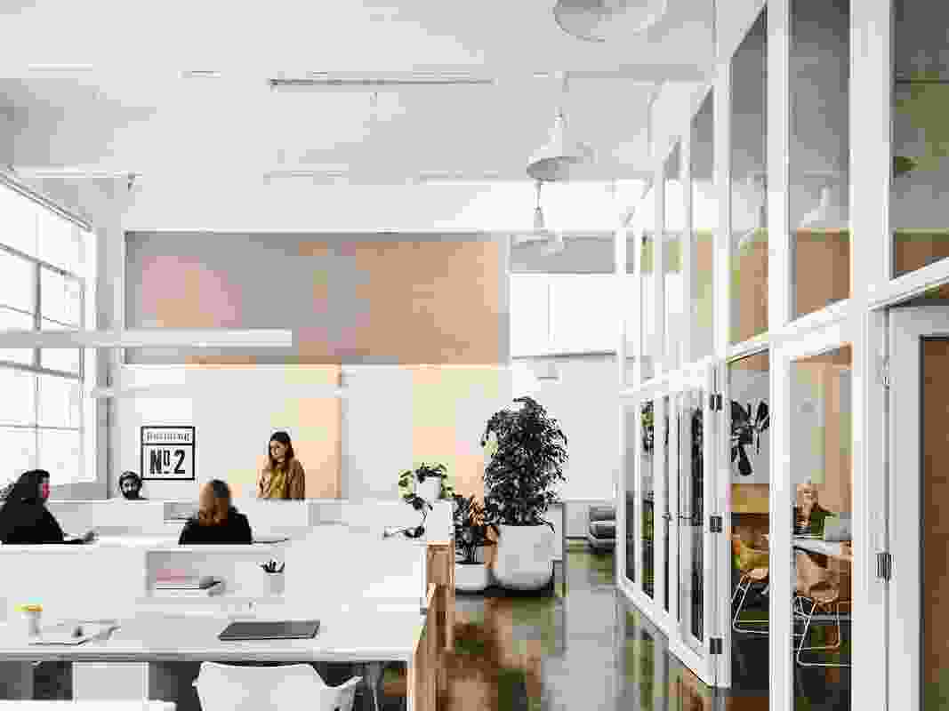 The brief required a coworking venue offering a range of different workspaces.