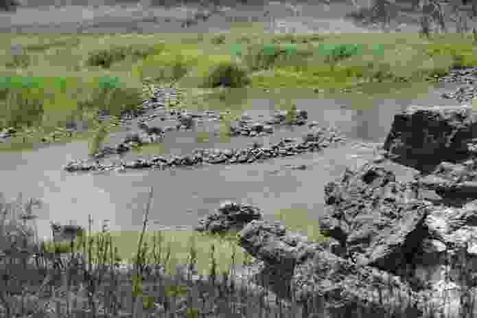 The fish traps at Brewarrina photographed in 2008.