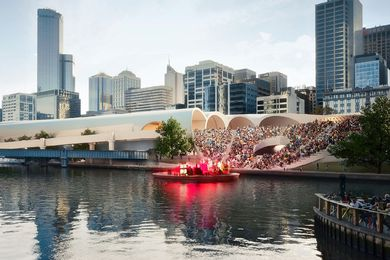 The winning design for the 2013 Flinders Street Station Competition by Hassell and Herzog and de Meuron.