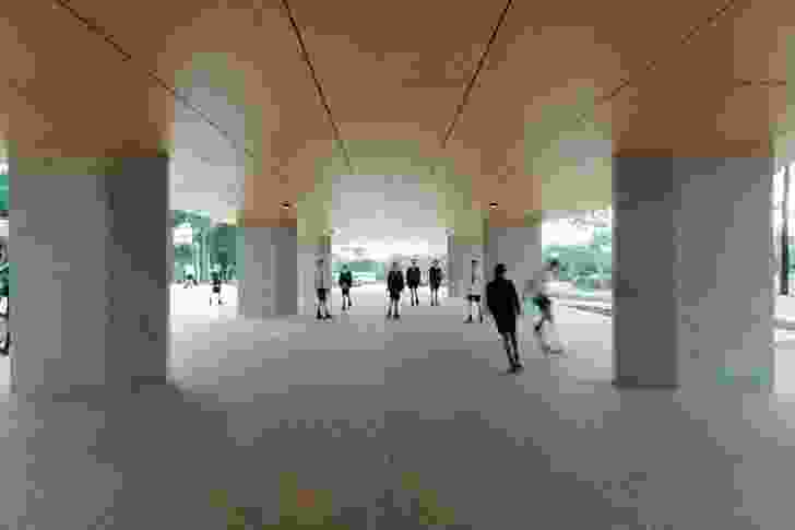 The undercroft is an unstructured social zone, inviting different types of occupation between classes.