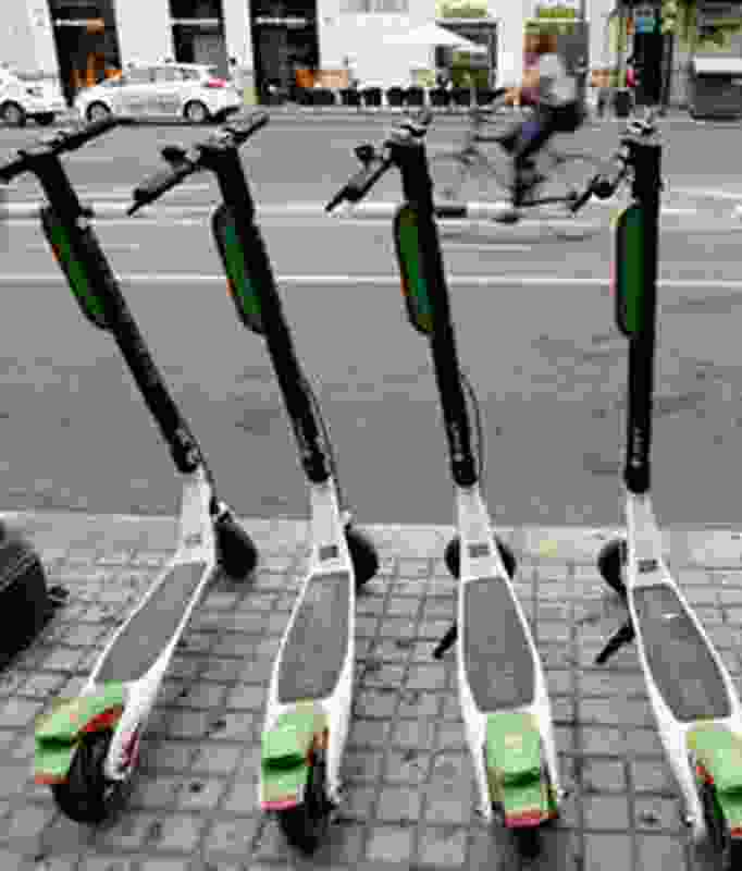 E-scooter share schemes also need kerb space for parking.
