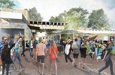 Pop-up village underway at Australian National University