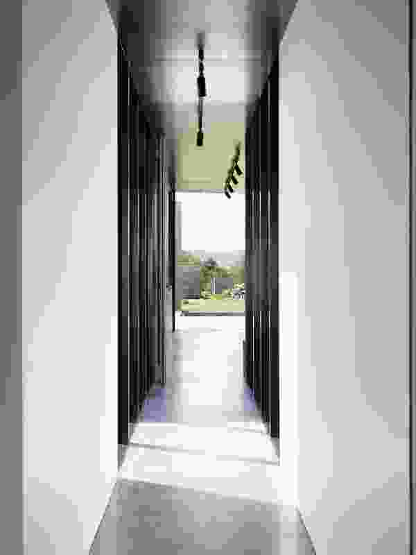 Light penetrates deep into the plan via a series of courtyards along the edges of the circulation spine.