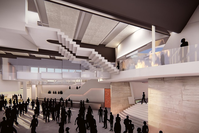 Breakout space to the theatre and convention centre at the proposed MONA Motown by Fender Katsalidis.