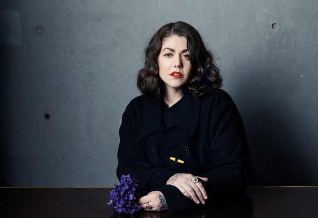 Artist and florist Lisa Cooper.