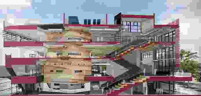 Fishermans Bend Secondary School by Billard Leece Partnership.