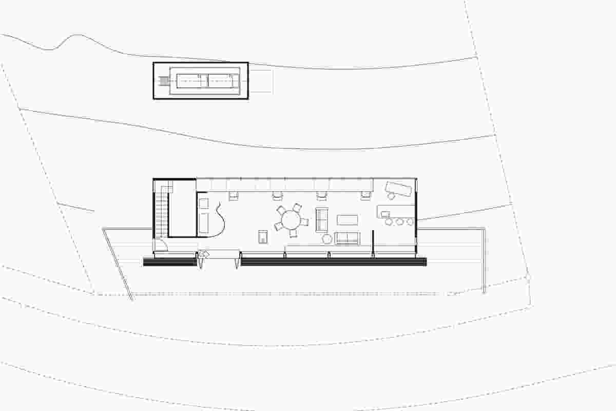 Ground floor plan of O'Sullivan Studio.
