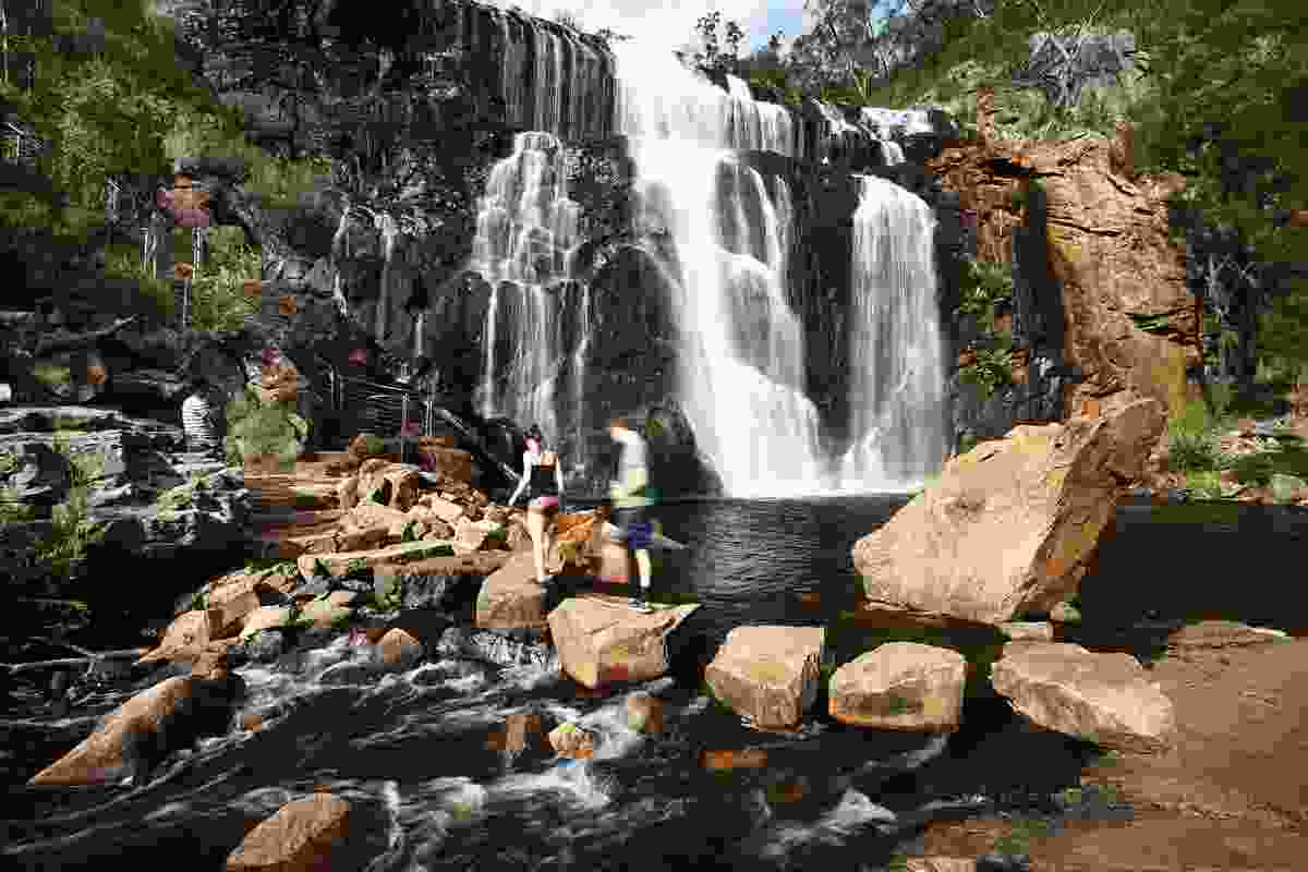 The MacKenzie Falls in the Grampians National Park is one of Victoria's largest waterfalls.