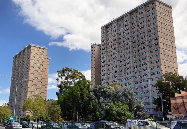 Melbourne's public housing towers.
