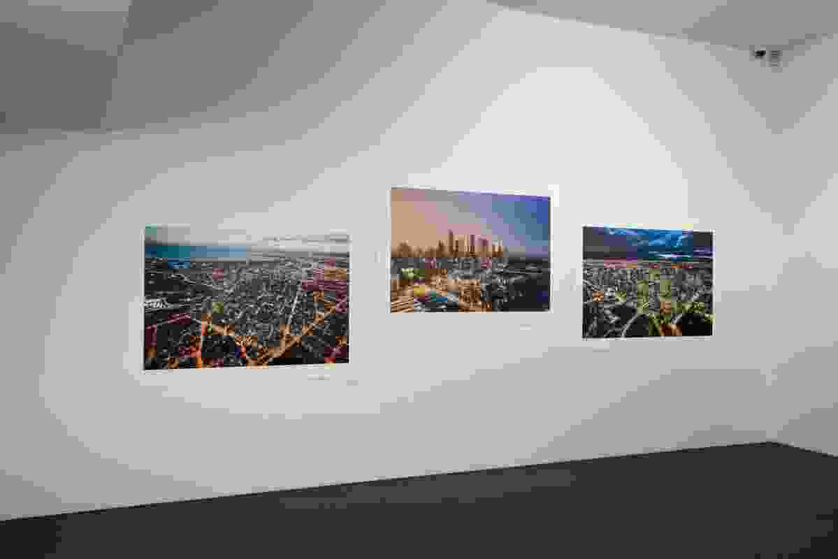At the far end of the first room are images of the Melbourne cityscape.