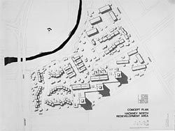 Concept plan for Hackney North redevelopment area, from the early 1970s, by the South Australian State Planning Authority.