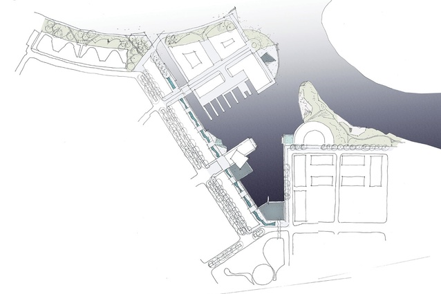 Kingston Foreshore:  A sketched concept plan.