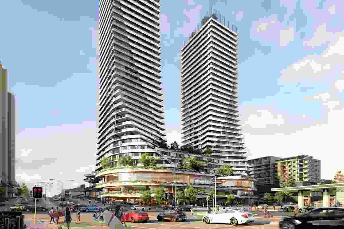 Hillam Architects' earlier design, rejected in December 2017.