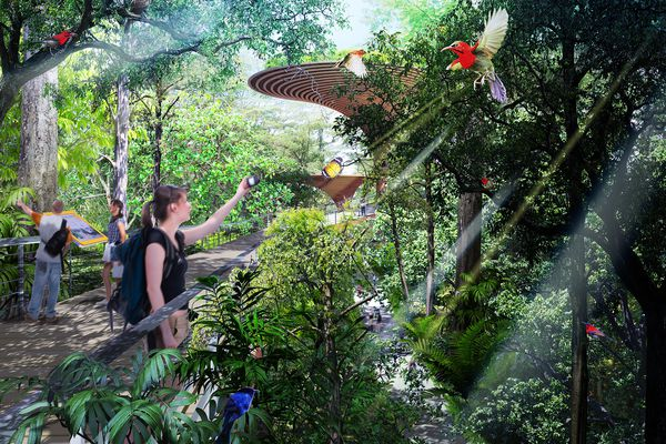 Nikken Sekkei and Tierra Design winning proposal to transform a disused railway in Singapore into a public park.
