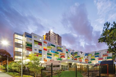 2013 Dulux Colour Awards Grand Prix winner: Atherton Gardens HUB Development by McCabe Architects and Bird de la Coeur Architects.
