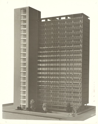 A model of ICI House by Bates Smart and McCutcheon.
