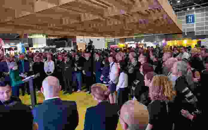 Victorian governor Linda Dessau at the Melbourne Pavilion at DesignInspire, as part of Business of Design Week.