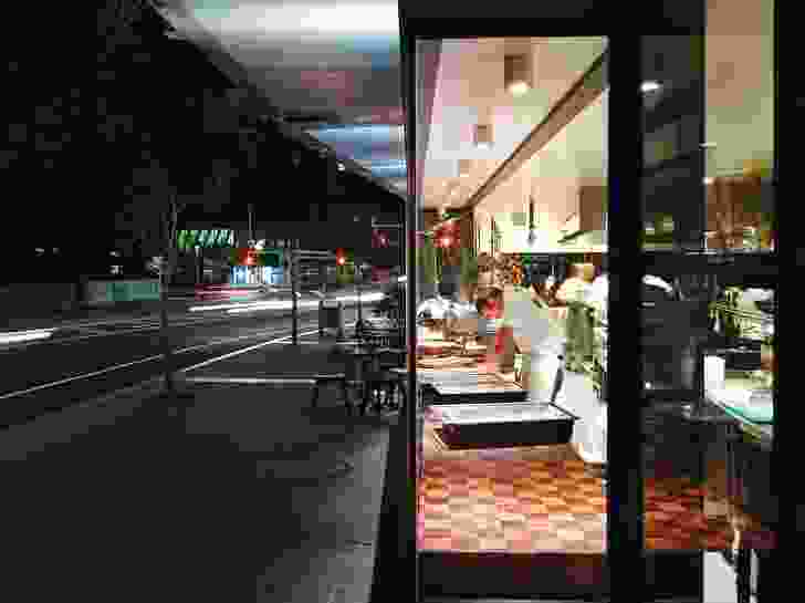 The design team wanted to activate South Brisbane's Grey Street. its design positively connects inside and outside spaces and encourages passersby to be part of the ebb and flow.