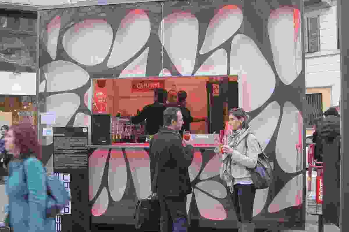 Pop-up Campari bar at Fritz Hansen (Brera).