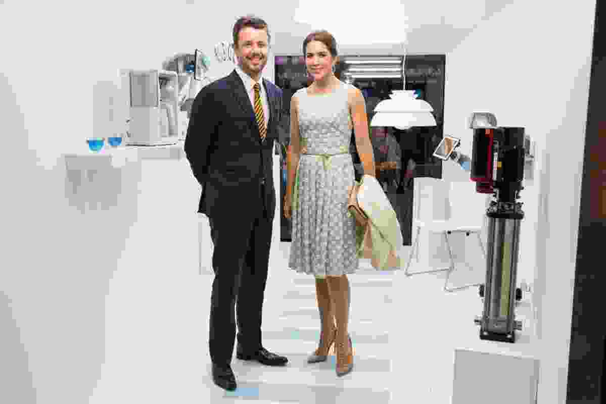 Inside the Technology window of Danish Design at the House: patrons of the Sydney Opera House fortieth anniversary celebrations, Their Royal Highnesses The Crown Prince and Princess of Denmark.