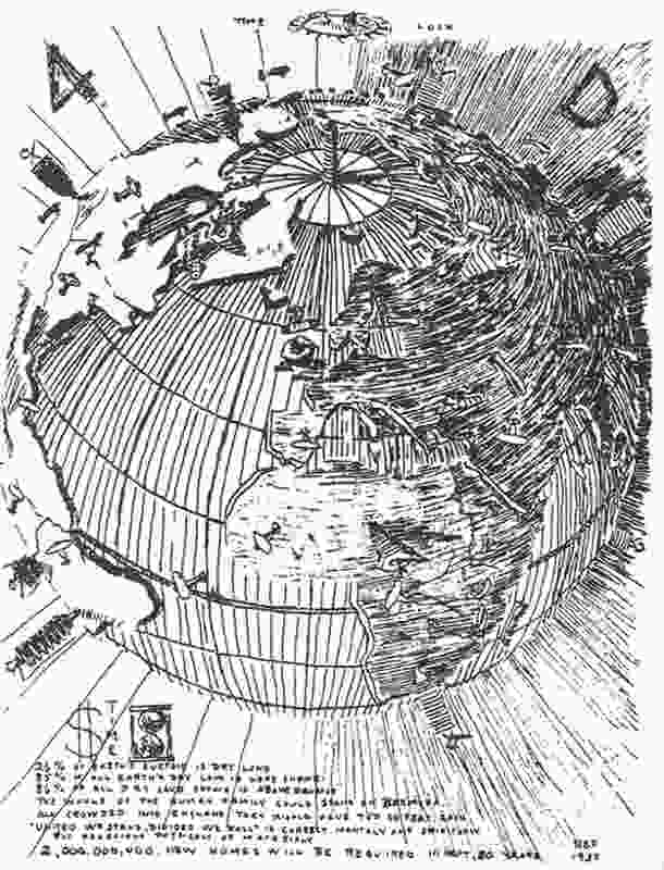 Buckminster Fuller's 1927 vision of a '4D Interconnected, Unified World'.
