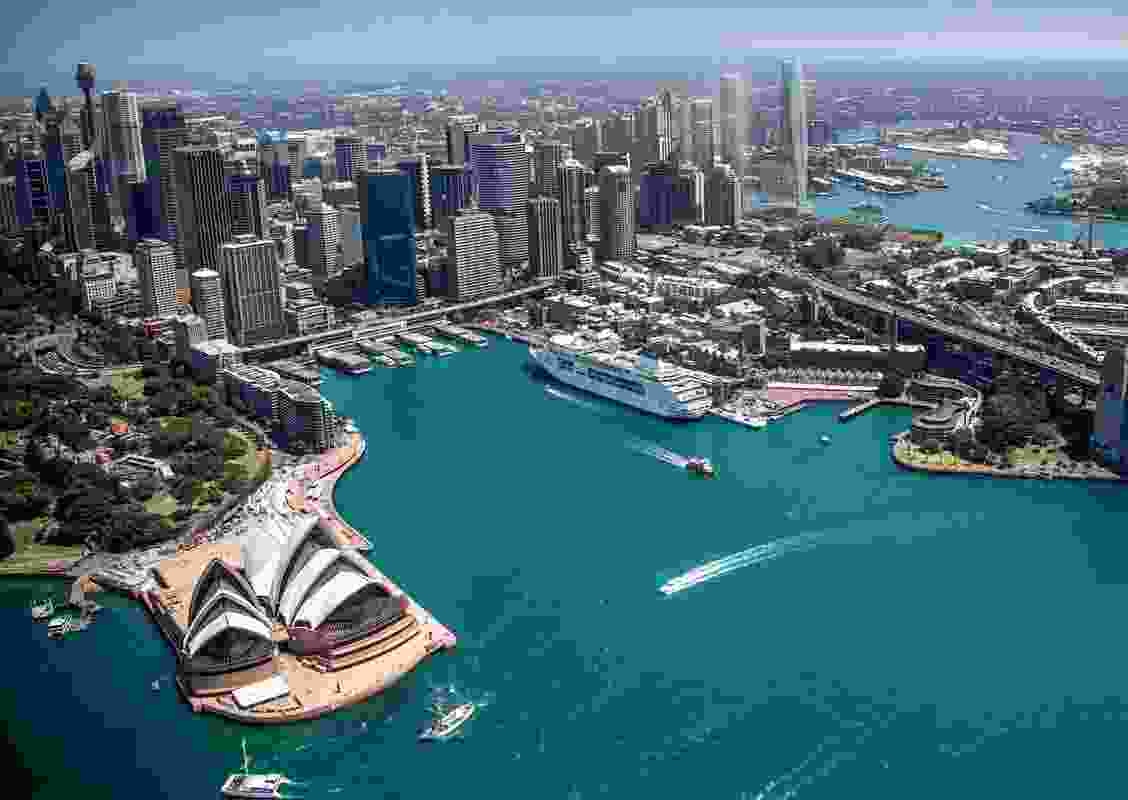 One Sydney Harbour, designed by Renzo Piano Building Workshop, consists of three residential towers.