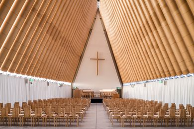 Christchurch Transitional Cathedral by Shigeru Ban Architects.