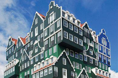 The traditional Dutch Zaanse huisjes reappear with a twist as the lnntel Hotel Zaandam by WAM.