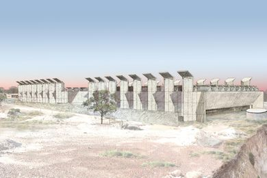 The proposed Australian Opal Centre by Glenn Murcutt and Wendy Lewin.