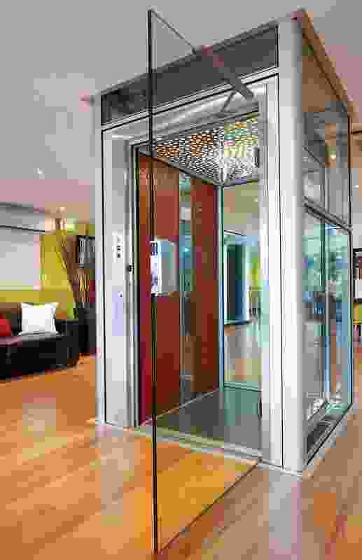 Crystal glass doors.