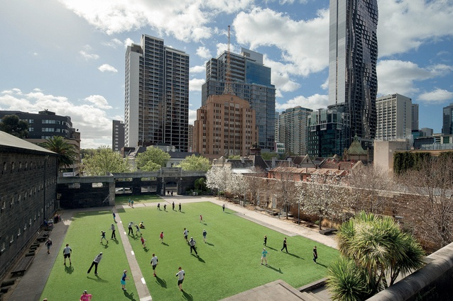 RMIT University Alumni Court by Peter Elliott Architecture and Urban Design.