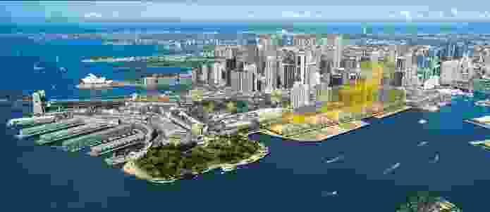 Rogers Stirk Harbour + Partners Barangaroo concept plan, November 2009.
