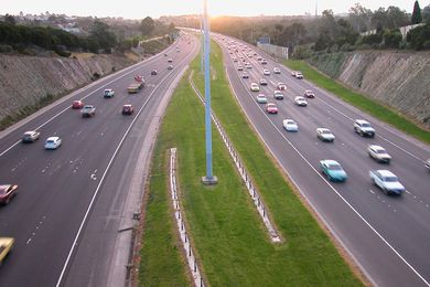 Melbourne's Eastern Freeway.
