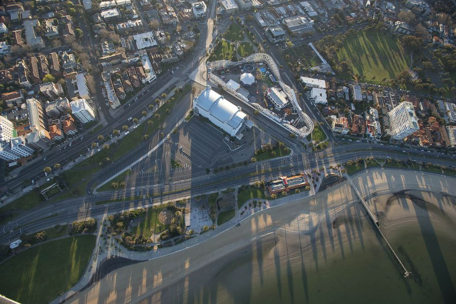 Aerial photography of the former Brookes Jetty.