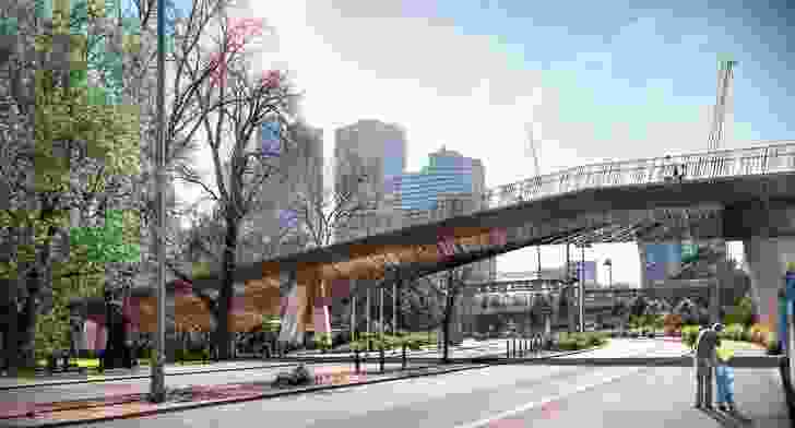 Batman Avenue Bridge by John Wardle Architects in collaboration with NADAAA and Oculus Landscape Architects.