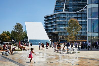 Green Square Library and Plaza by Studio Hollenstein in association with Stewart Architecture and Hassell.