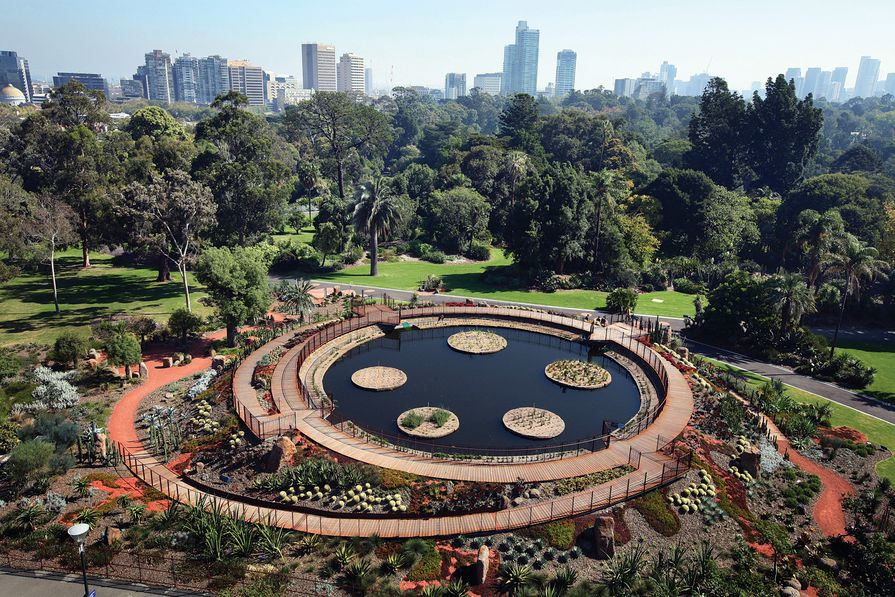 Guilfoyle's Volcano at the Royal Botanic Gardens Melbourne designed by Andrew Laidlaw.