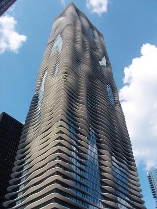 Studio Gang Architects' Aqua Tower in Chicago, Illinois (2010).