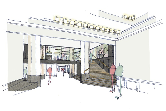 Indicative sketch of the Capitol Theatre refurbishment by Six Degrees Architects.